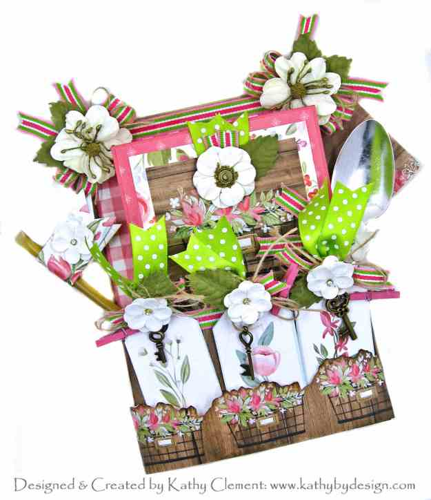 Carta Bella Farmhouse Market Flower Box Card by Kathy Clement Kathy by Design for Really Reasonable Ribbon Photo 01