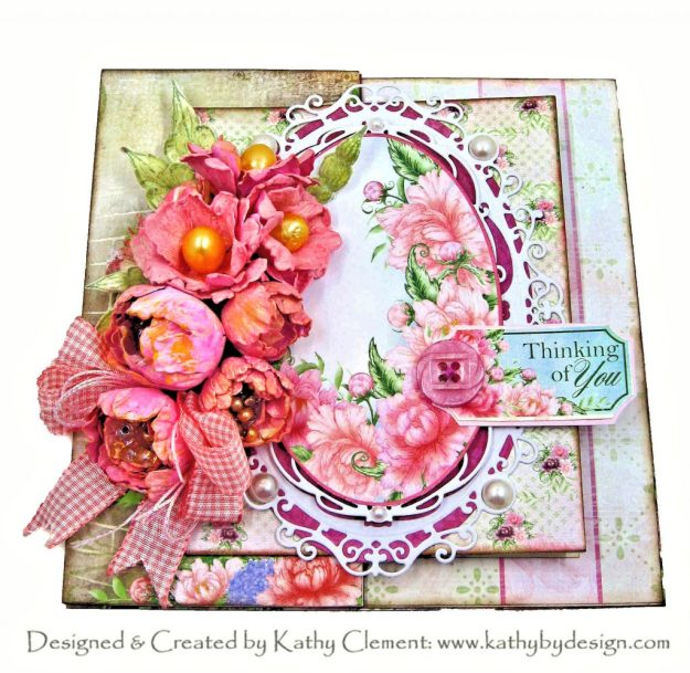 Heartfelt Creations Sweet Peony Gatefold Z-Fold Card for the July 2020 Alumni Hop by Kathy Clement Kathy by Design Photo 01