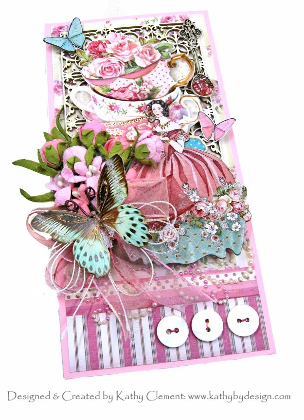 Stamperia Sweety Tall and Skinny Box Card by Kathy Clement Kathy by Design Photo 01