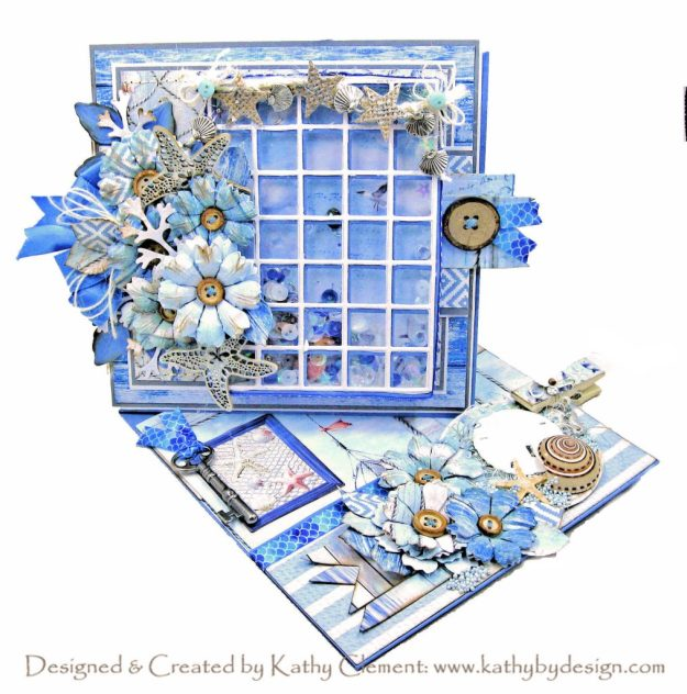 Ciao Bella Sound of Summer Beach Window Twisted Easel Card Amazing Paper Grace Snip It Grid Calendar Die by Kathy Clement Kathy by Design Photo 01