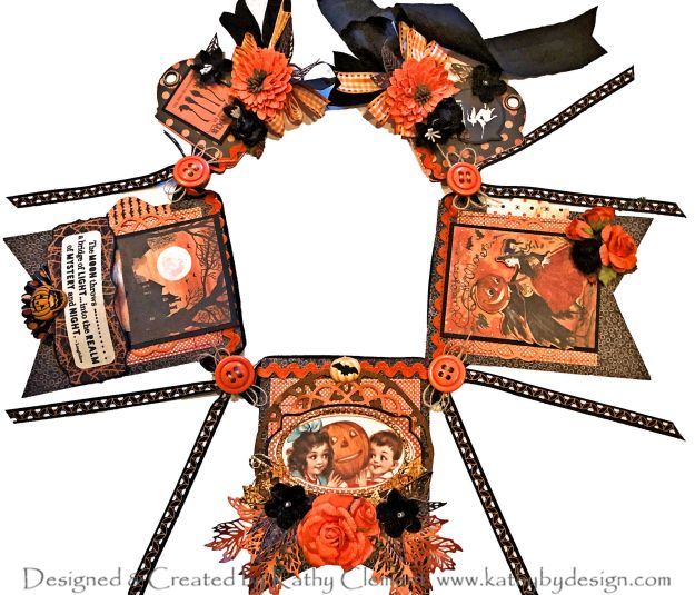 Authentique Nightfall Halloween Banner by Kathy Clement Kathy by Design for Really Reasonable Ribbon Photo 01