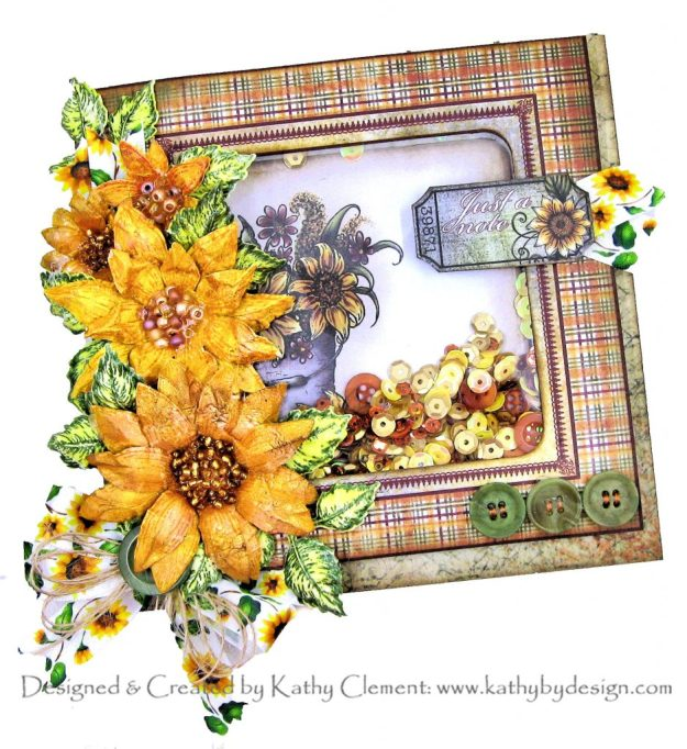 Heartfelt Creations Classic Sunflower Shaker Card by Kathy Clement Kathy by Design Photo 01