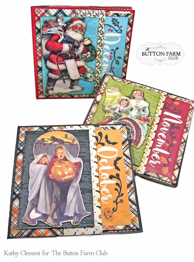 Authentique Calendar Collection Button Farm Club Year in a Box Fall Folios by Kathy Clement Kathy by Design Photo 01