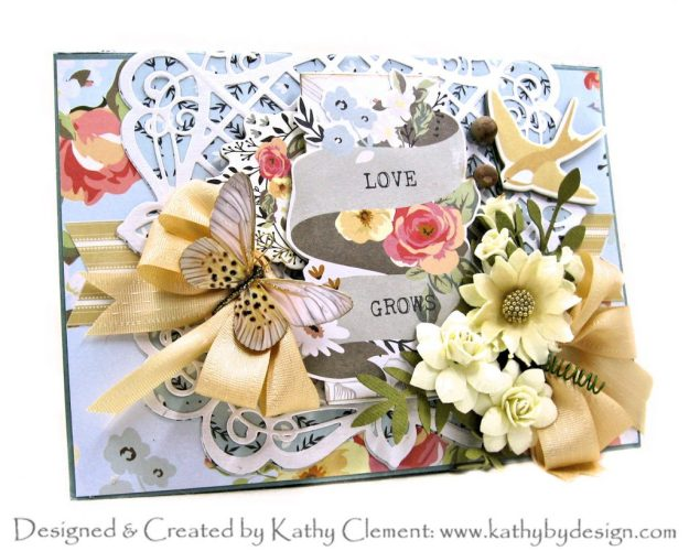 Spellbinders Amazing Paper Grace Club Kit September 2020 My Mind's Eye Gingham Gardens Photo Folio by Kathy Clement, Kathy by Design Photo 01