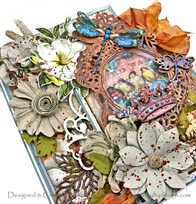 Blue Fern Birdie Darling Reneabouquets Dragonfly Dance Fall Folio by Kathy Clement Kathy by Design Photo 01