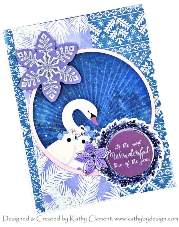 Spellbinders Sparkling Holidays Swans Cards Kathy Clement Kathy by Design Photo 01