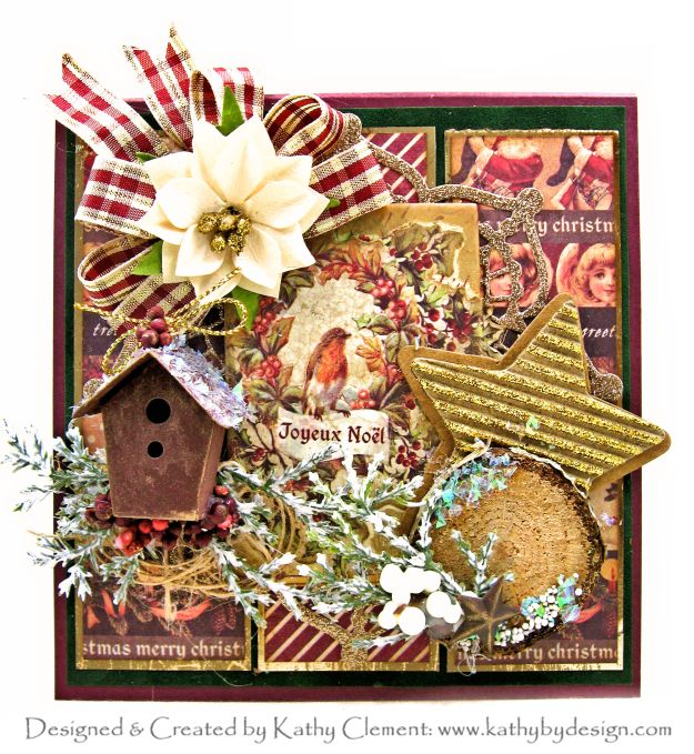 Prima A Victorian Christmas Bird Card by Kathy Clement Kathy by Design Photo 01