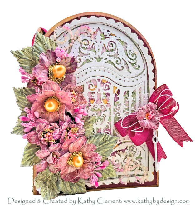 Heartfelt Creations Elegant Gateway Trifold Card Heartfelt Creations Alumni Hop Heartfelt Creations Wild Roses Collection by kathy Clement kathy by Design PHoto 01