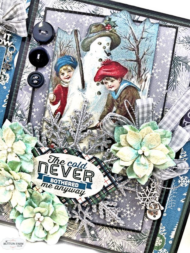 Authentique Snowfall Interactive Folio Kit Reveal for The Button Farm Club by Kathy Clement Kathy by Design Photo 01