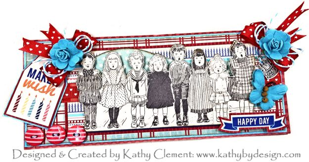 Authentique Hooray Birthday Chorus Slimline Card by Kathy Clement Kathy by Design Photo 01