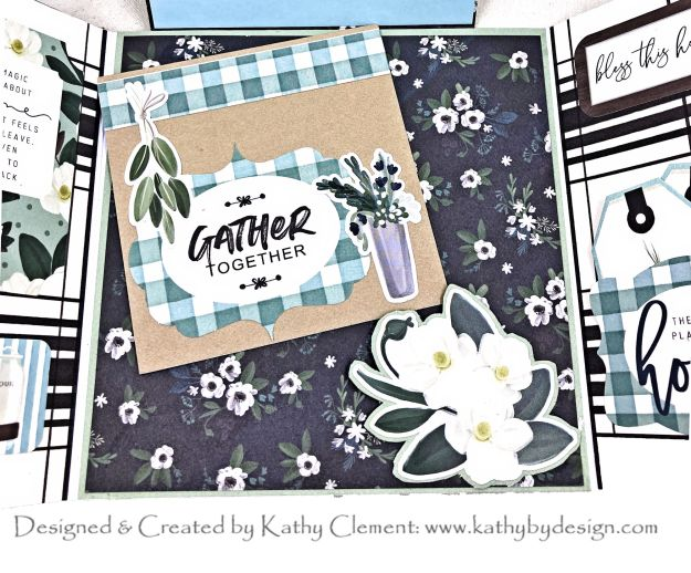 Hidden Pocket Detail Carta Bella Home Again Card Folio by Kathy Clement Kathy by Design Photo 01