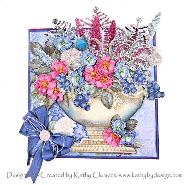 Heartfelt Creations Floral Shoppe Urn Box Card by Kathy Clement Kathy by Design Photo 01