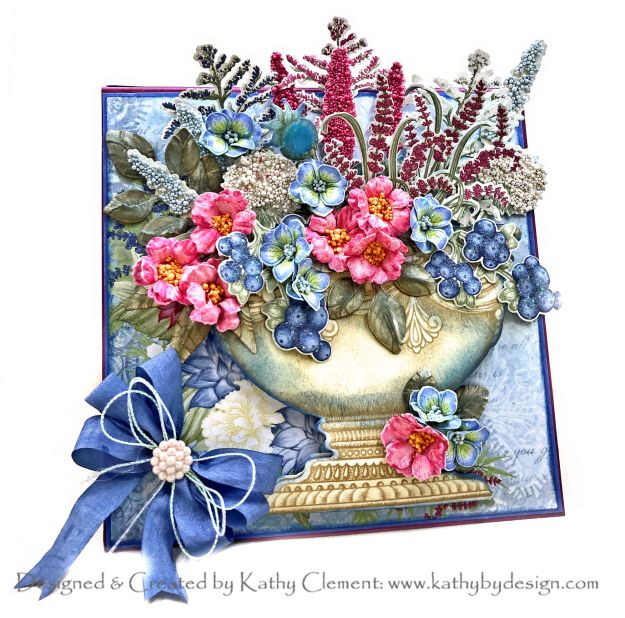 Heartfelt Creations Floral Shoppe Urn Tea Party in a Box Card by Kathy Clement Kathy by Design for the January 2021 Alumni Hop Photo 01