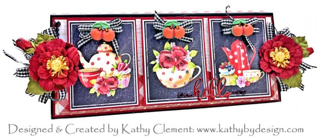 LemonCraft Delicious Life is Just a Bowl of Cherries Slimline Card by Kathy Clement Kathy by Design Photo 01
