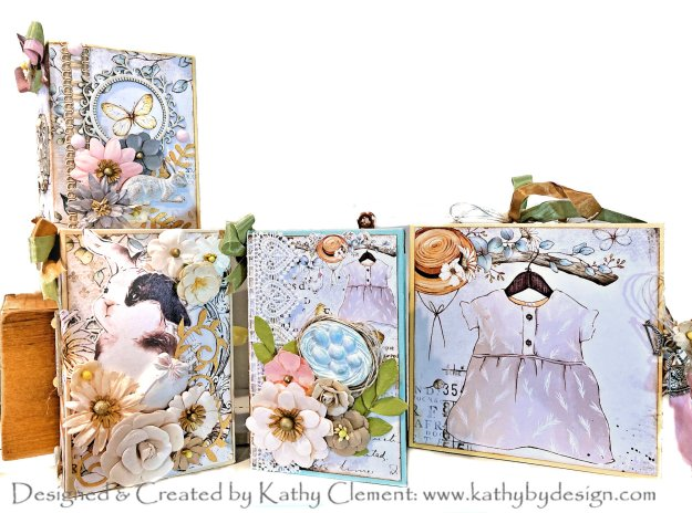 Country Craft Creations Country Bunny Boxed Mini Album Set by Kathy Clement Kathy by Design Photo 01