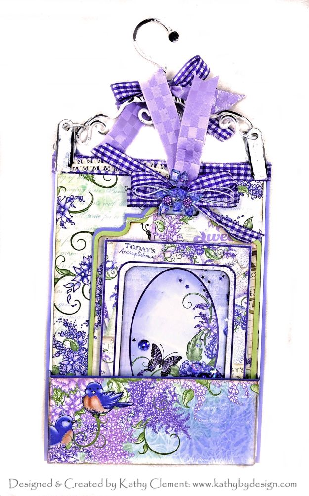 Heartfelt Creations Lush Lilac Hanging Pocket Card by Kathy Clement Kathy by Design Photo 01