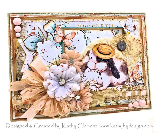 Tea Party in a Box Card Country Craft Creations Country Bunny by Kathy Clement Photo 01