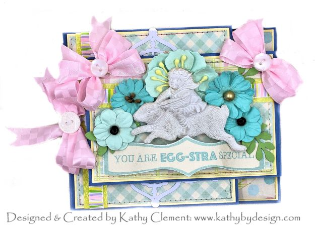 Authentique Springtime Easter Derby Card Folio for Really Reasonable Ribbon by Kathy Clement Photo 01