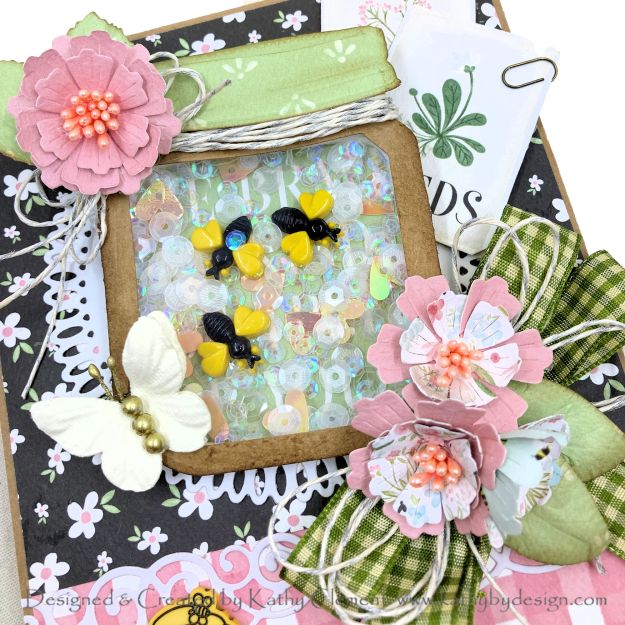 Spellbinders Amazing Paper Grace Vignette Floral Mason Jar Shaker Card by kathy Clement Photo 01