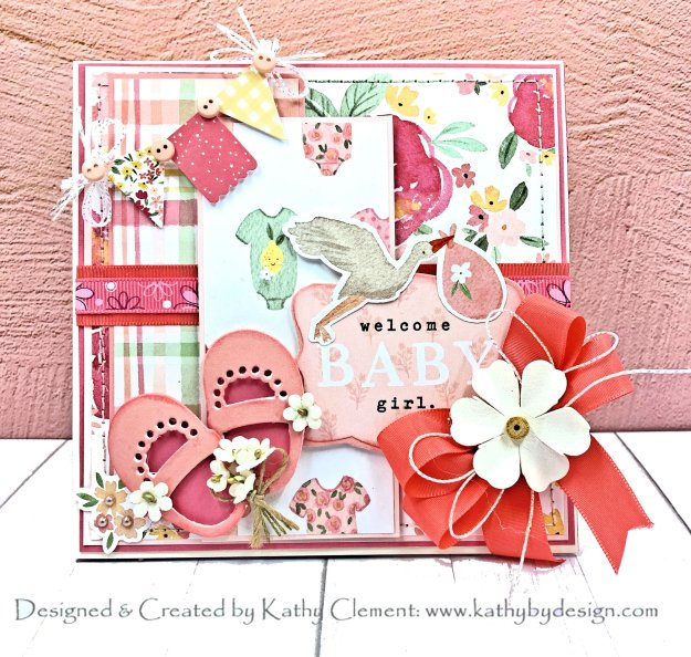 Echo Park Welcome Baby Girl Card Folio by Kathy Clement PHoto 01