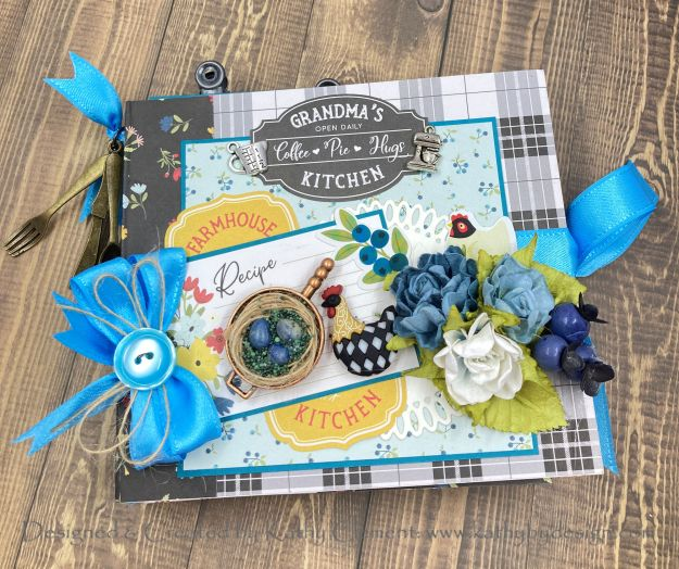 Echo Park Farmhouse Kitchen Flip Folio by Kathy Clement Kathy by Design for Really Reasonable Ribbon Photo 01