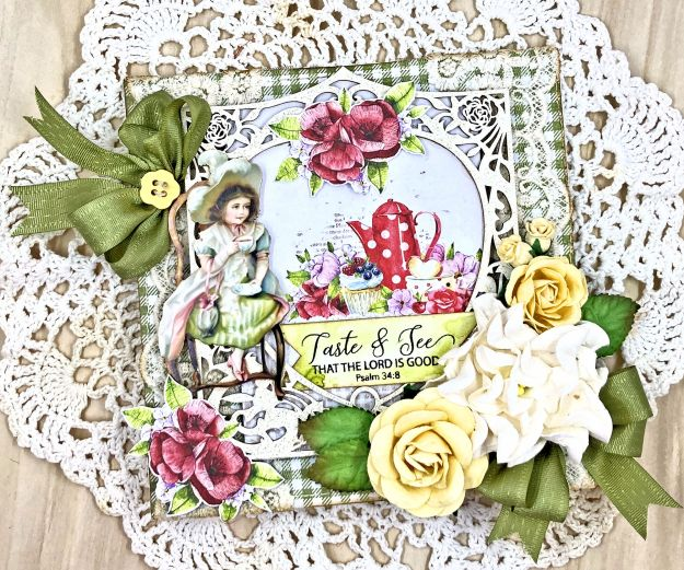 Reneabouquets Tea Amidst the Roses Card Lemoncraft Delicious by Kathy Clement Photo 01