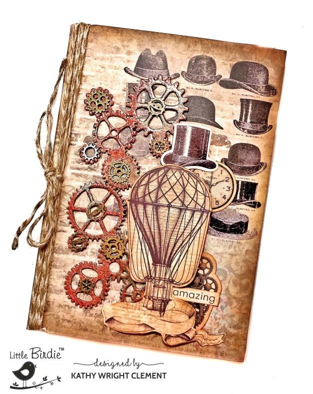 Little Birdie Classic Gentleman Steampunk Folio Tutorial by Kathy Clement PHoto 01
