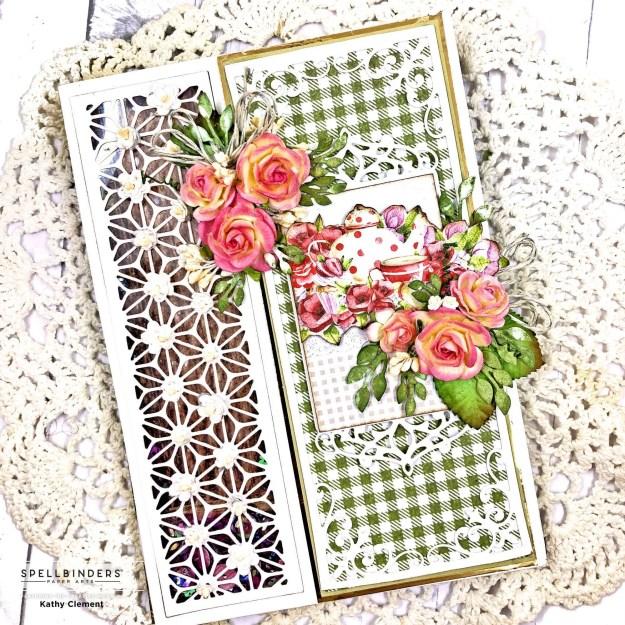 Spellbinders Amazing Paper Grace Victorian Splendor Die Lemoncraft Delicious Shaker Card by Kathy Clement Photo 01
