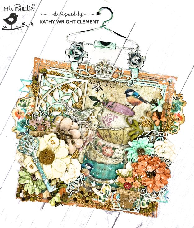 Little Birdie Woodland Stories Mixed Media Home Decor Tutorial by Kathy Clement Photo 01