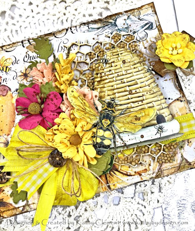 Country Craft Creations Bee House Reneabouquets Bee Hive by Kathy Clement for Really Reasonable Ribbon Photo 01