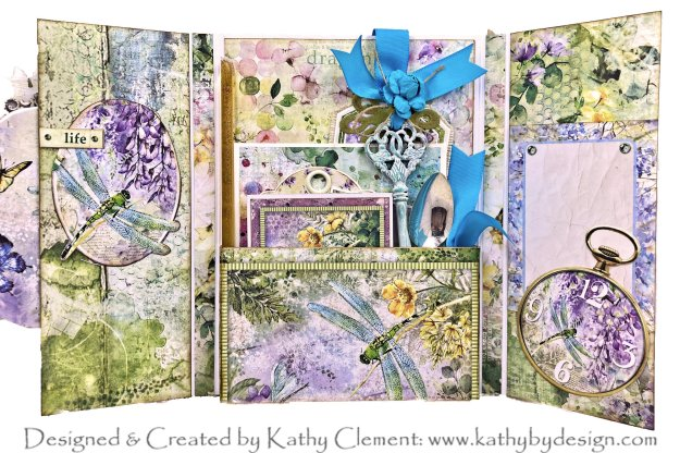 Ciao Bella Microcosmos Dragonfly Shaker Card by Kathy Clement Photo 01