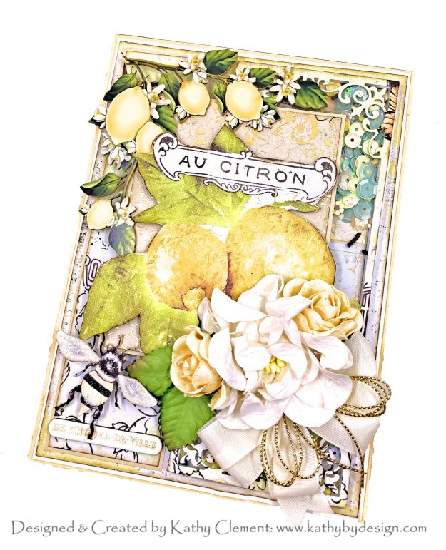 Prima Fruit Paradise Shaker Card Reneabouquets by Kathy Clement Photo 01