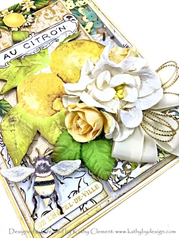 Reneabouquets Sugar Bee Prima Fruit Paradise Shaker Card by Kathy Clement Photo 01