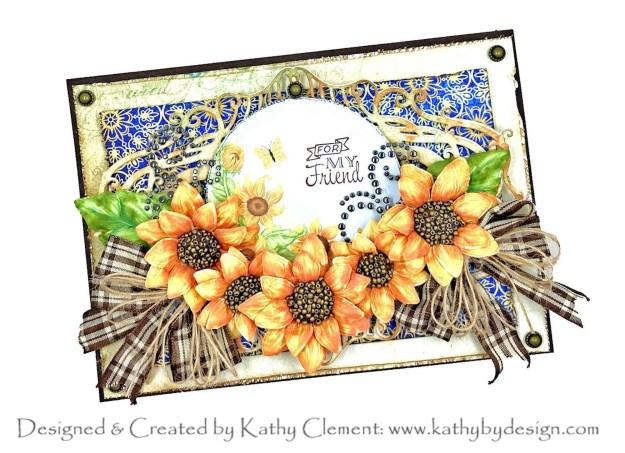 Heartfelt Creations September 2021 Alumni Hop Rustic Sunflowers by Kathy Clement Photo 01