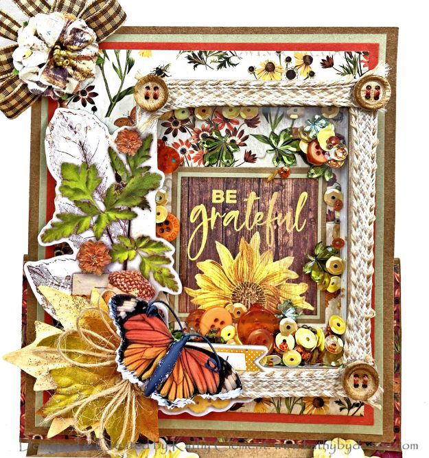 Simple Stories Autumn Splendor Shaker Easel Card by Kathy Clement Photo 01