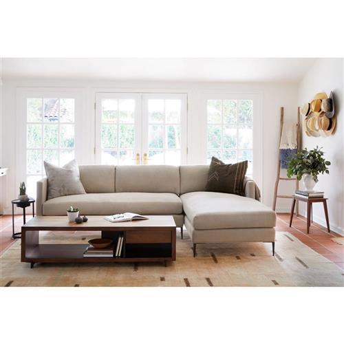 cisco brothers benedict modern classic cream linen 2 piece sectional sofa left arm facing