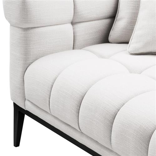 eichholtz aurelio modern white tufted chaise lounge left arm facing