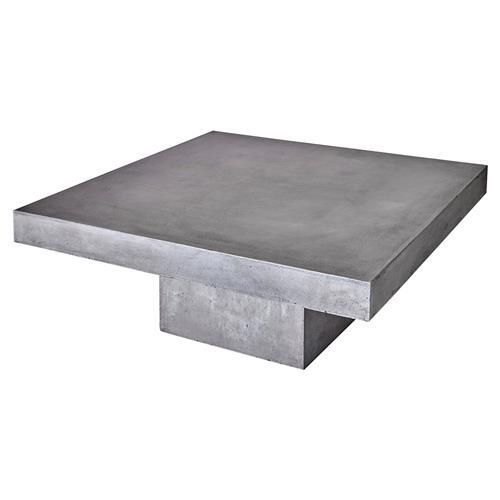 victoria modern classic heavy duty white concrete square block outdoor coffee table