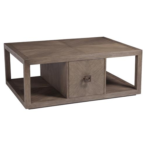artistica credence modern 2 drawer grey wood rectangular coffee table