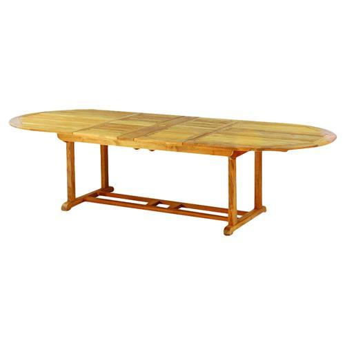 kingsley bate essex modern teak outdoor oval extendable dining table 80 114