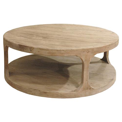 sian rustic lodge brown pine wood round round coffee table