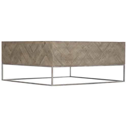 maxine modern classic brown wood herringbone patterned metal square coffee table