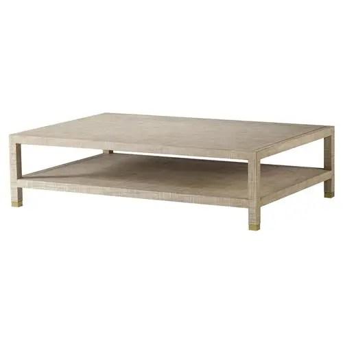 maison 55 raffles modern classic rectangular wood coffee table
