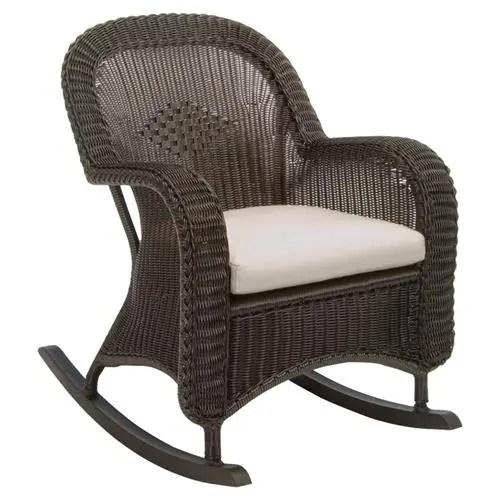 summer classics wicker modern black outdoor rocker chair