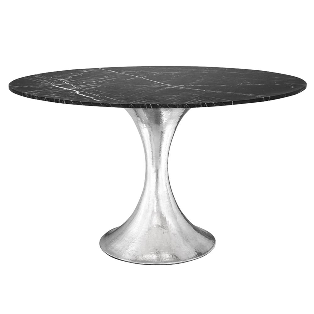 dining tables quinton silver tulip black marble round dining table: round white marble dining table