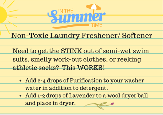 Non-Toxix Laundry Freshener and Softener