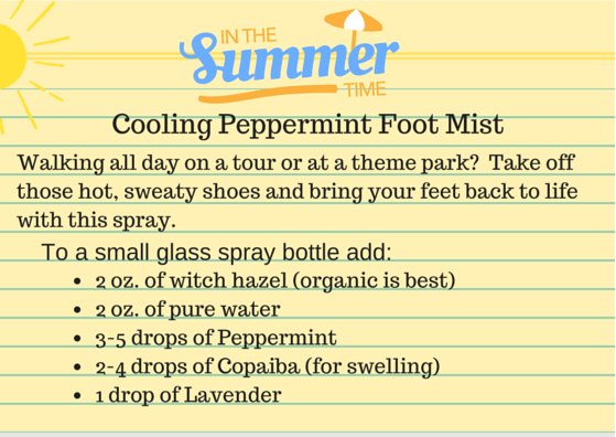 Cooling Peppermint Foot Spray