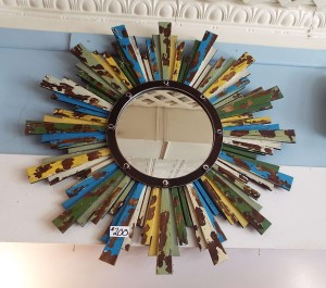 Shabby Chic Sun with Mirror Multi Color