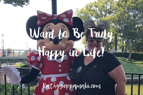 Picture of Kathy Seppamaki and Minnie Mouse with blog post title overlay