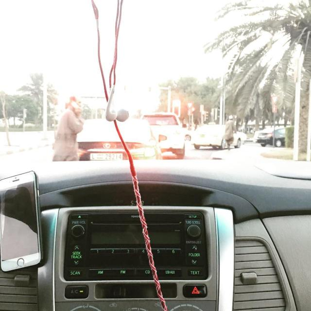 My Dubai cab driver had his earphones seriously styled Ihellip